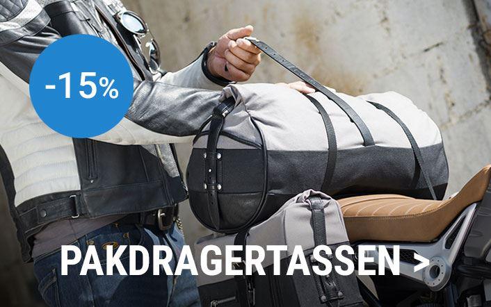 -15% op alle pakdragertassen