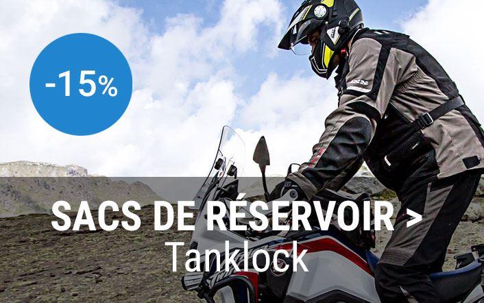 -15% sur tous les sacs de réservoirs Tanklock