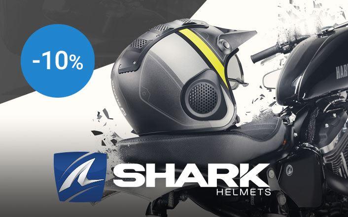 -10% op Shark helmen