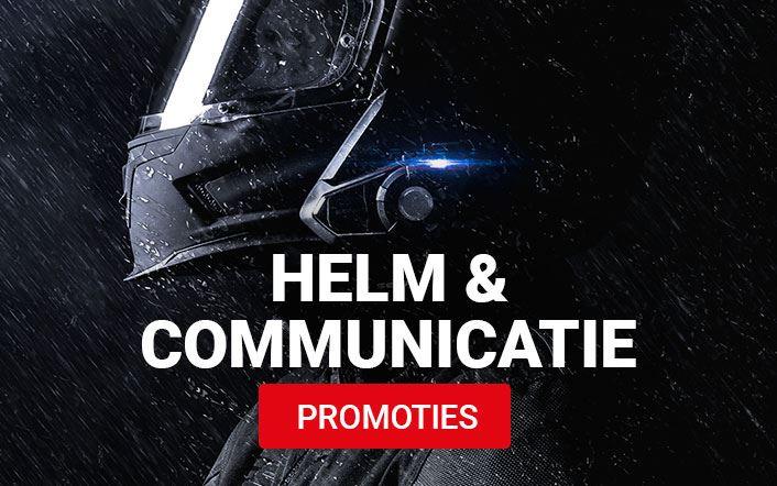 Alle helmen en communicatie in promotie