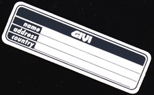 GIVI Plaque d'identification Z405
