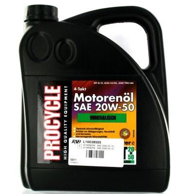 PROCYCLE 4 Temps huile minérale SAE 20W-50 4 l