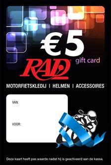 RAD Gedrukte Nederlandstalige Cadeaubon cadeaukaart
