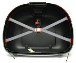GIVI : E52 Onderschaal - Zwart met zilveren omlijsting - Z52FNM