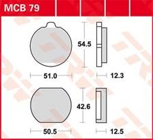 TRW Plaquettes de frein organique MCB79