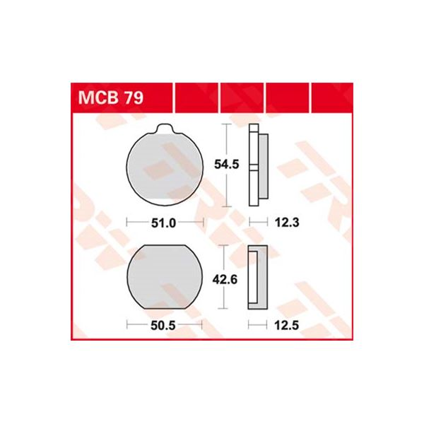 TRW Standaard remblokken MCB79