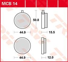 TRW Plaquettes de frein organique MCB014
