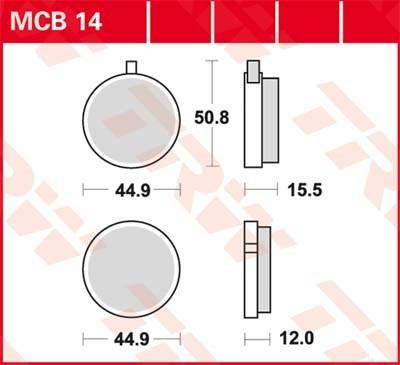 TRW Standaard remblokken MCB014