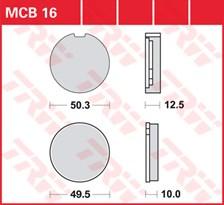 TRW Plaquettes de frein organique MCB016