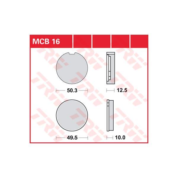 TRW Standaard remblokken MCB016
