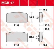 TRW Plaquettes de frein organique MCB17