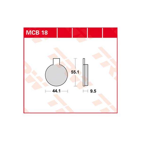 TRW Standaard remblokken MCB18