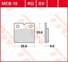 TRW Standaard remblokken MCB19