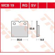 TRW Plaquettes de frein organique MCB19