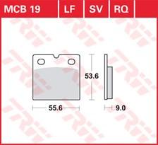 TRW Plaquettes de frein qualité racing MCB019RQ