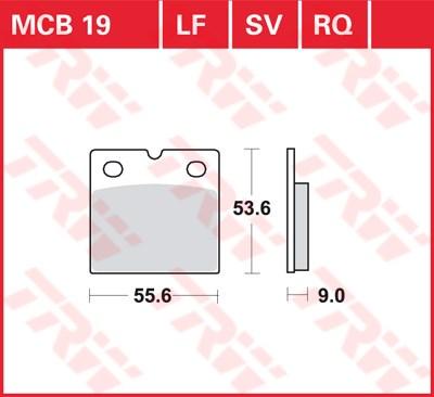 TRW racing quality remblokken MCB019RQ