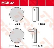 TRW Plaquettes de frein organique MCB32