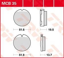 TRW Plaquettes de frein organique MCB35
