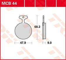 TRW Plaquettes de frein organique MCB44