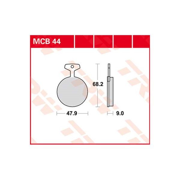 TRW Standaard remblokken MCB44