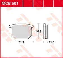 TRW Plaquettes de frein organique MCB501