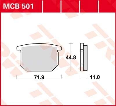 TRW Standaard remblokken MCB501