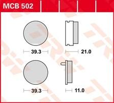 TRW Plaquettes de frein organique MCB502