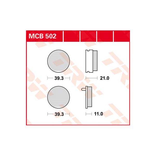 TRW Standaard remblokken MCB502