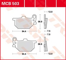 TRW Plaquettes de frein organique MCB503