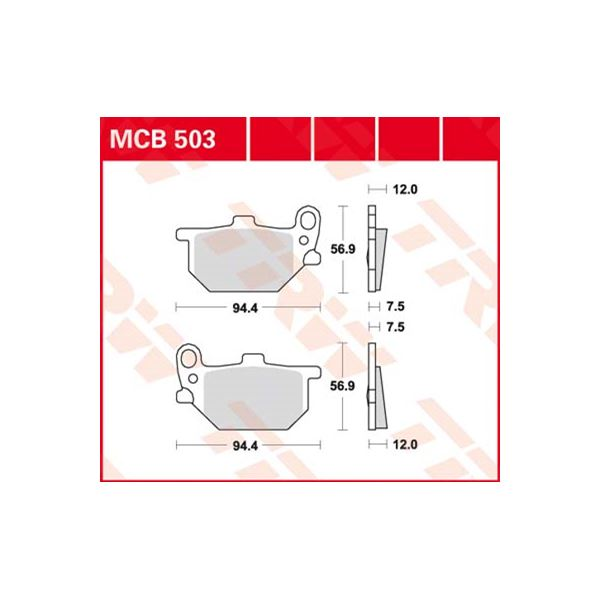 TRW Standaard remblokken MCB503