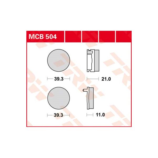 TRW Standaard remblokken MCB504
