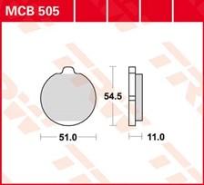 TRW Plaquettes de frein organique MCB505