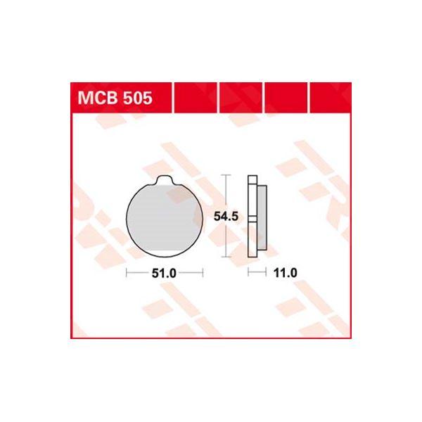 TRW Standaard remblokken MCB505