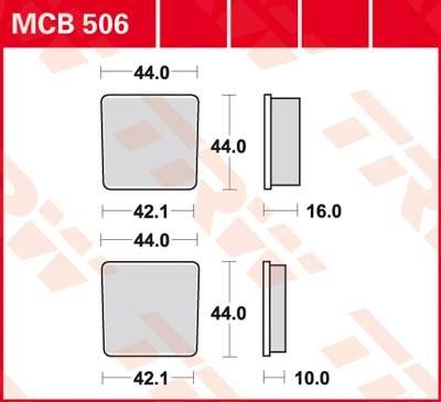 TRW Standaard remblokken MCB506