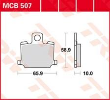 TRW Plaquettes de frein organique MCB507