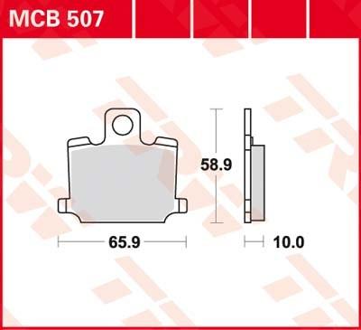 TRW Standaard remblokken MCB507