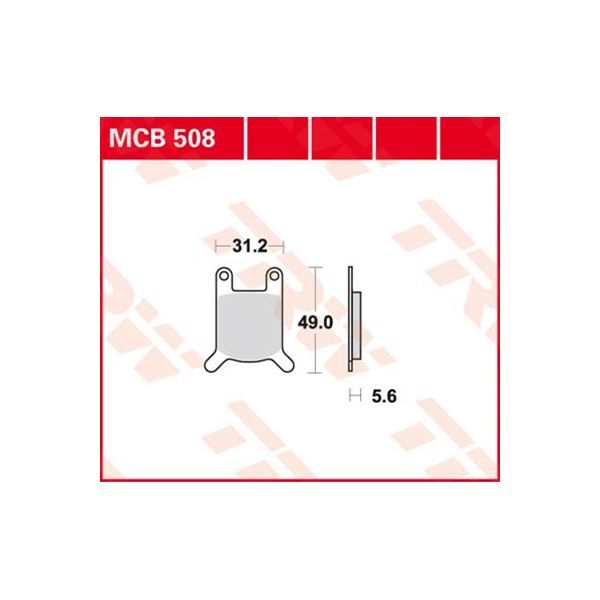 TRW Standaard remblokken MCB508