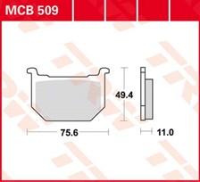 TRW Plaquettes de frein organique MCB509