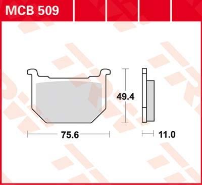 TRW Standaard remblokken MCB509