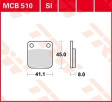 TRW Plaquettes de frein organique MCB510