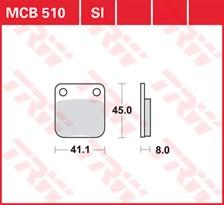 TRW Plaquettes de frein métal fritté SI MCB510SI