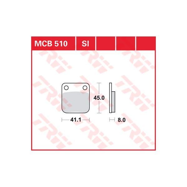 TRW SI Remblokken sinter metaal MCB510SI