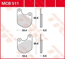 TRW Plaquettes de frein organique MCB511