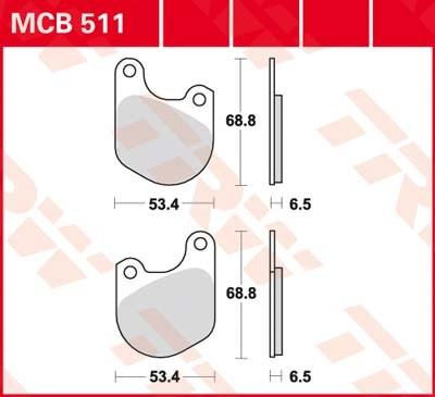 TRW Standaard remblokken MCB511