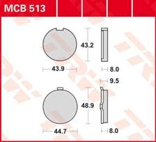 TRW Plaquettes de frein organique MCB513