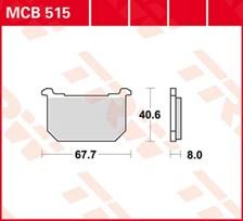 TRW Plaquettes de frein organique MCB515