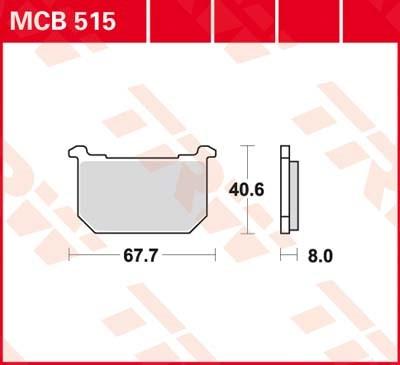 TRW Standaard remblokken MCB515