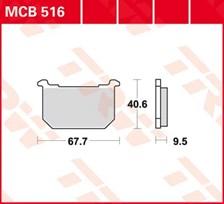 TRW Plaquettes de frein organique MCB516