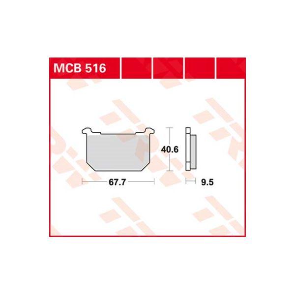 TRW Standaard remblokken MCB516