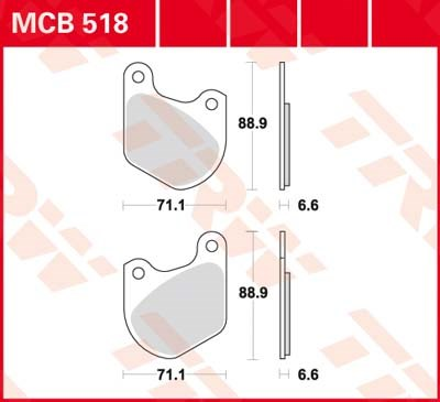 TRW Standaard remblokken MCB518